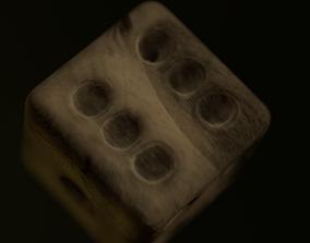 Bone dice - Dado de hueso 3D model
