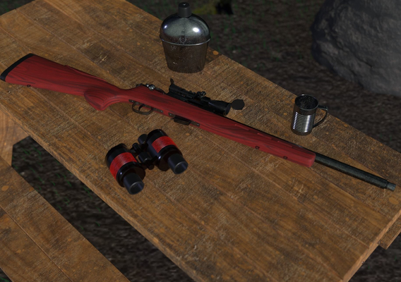 Savage Weapon 3D Model