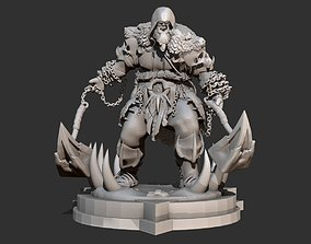 Orc DnD sculpted figurine mini 3d Printing no textures