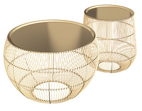 3D Zara Home GOLDEN TABLE WITH TRAY
