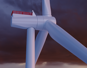 3D Modern Wind Turbine