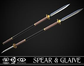 3D model PBR Spear and Glaive A1