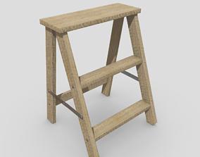 Stepladder 3D asset