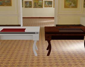 3D model low-poly Design Computer Desk