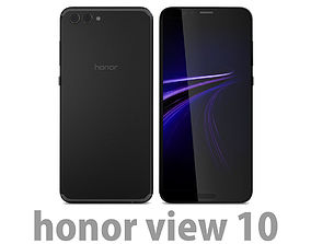 3D Honor View 10 Midnight Black