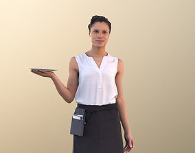 3D model Diana 10889 - Female Waitress Serving