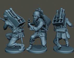 German soldier ww2 Rocket G4 3D print model