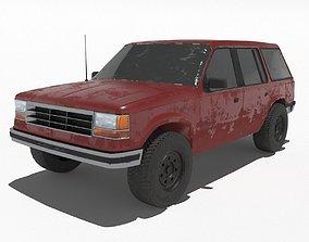 3D asset Ford Explorer 1992 - Game ready