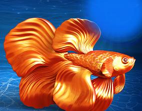Betta Fish Ready For 3D Print 3dprintable