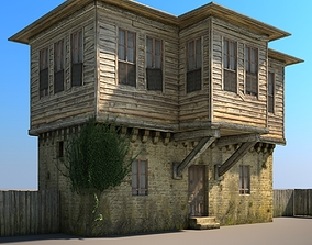 Wooden House facade 3D model