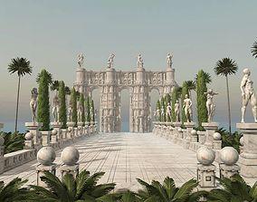 3D model Antique Rome Scene for Unity