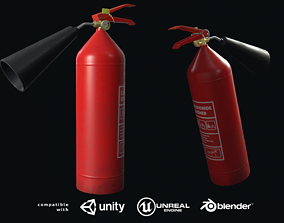 Fire extinguisher 3D asset low-poly PBR