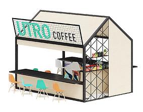 Coffee Kiosk 3D Model mall
