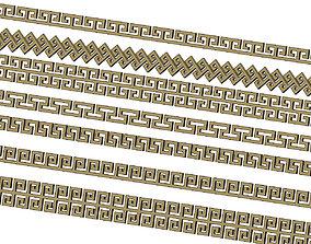 Meandre Greek key pattern strips 3D printable model
