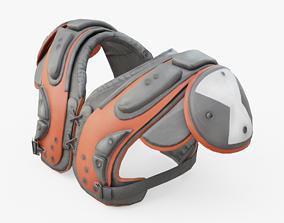 3D model American Football Shoulder Pads
