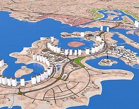 Doha city Qatar full October 2020 3d model
