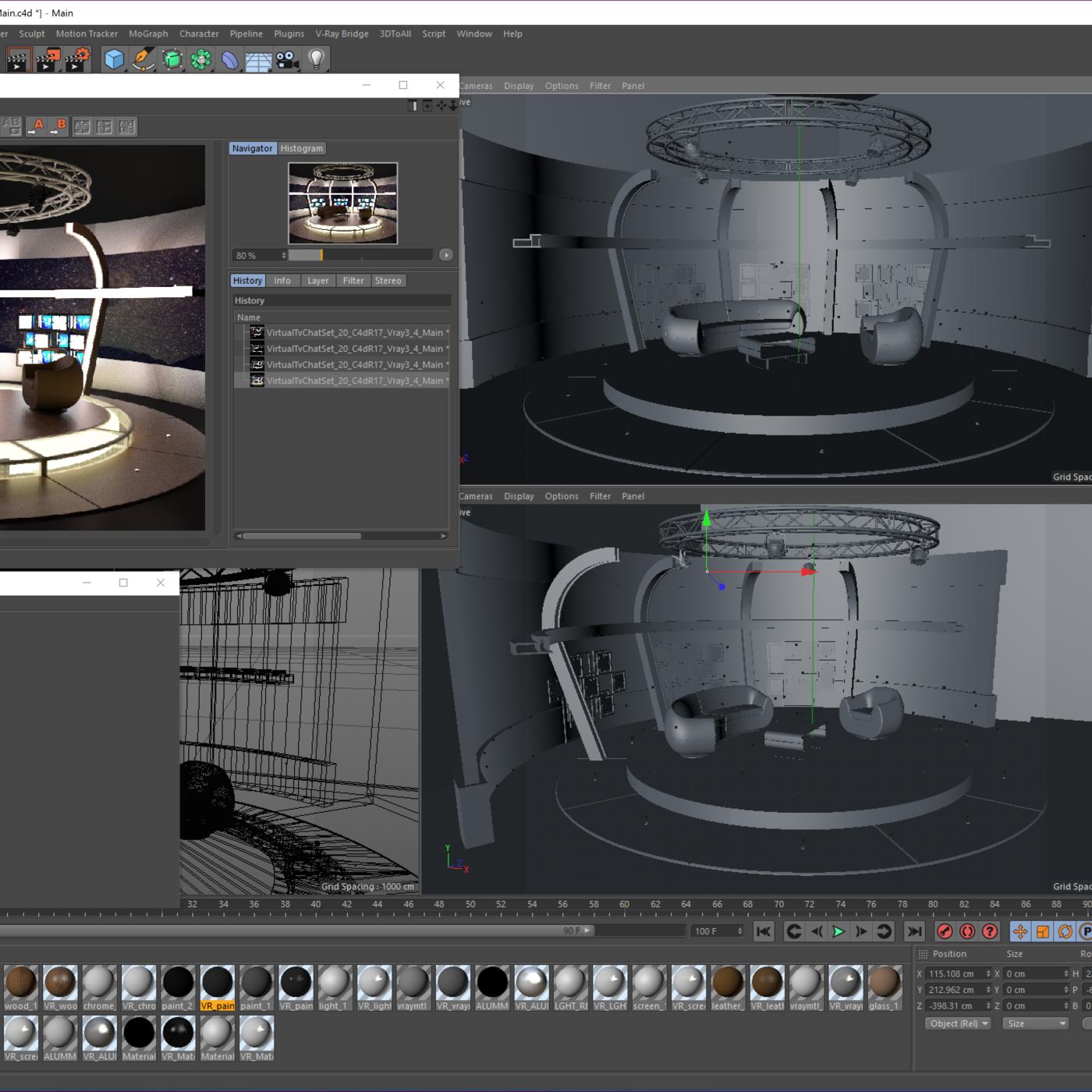 3d Virtual Tv Studio Sets Collection Vol 13 8 Pcs Design Cgtrader