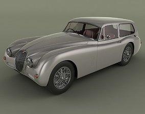 3D Jaguar XK150 Tow Car