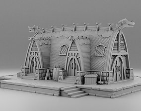 Large barn of Vikings 3D print model