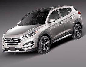 HQ Lowpoly Hyundai Tucson 2016 3D model