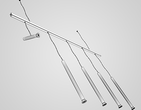 Hanging Halogen Lamp Set 23 3D model