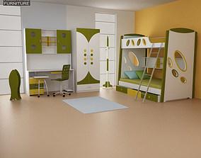 3D asset Nursery Room 07 Set