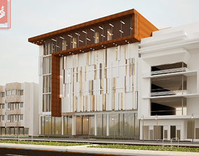 comercial modern building muilty 3D model