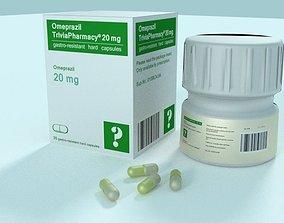 3D model Medicine prop - Omeprazil TriviaPharmacy 20mg