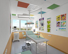 3D model Childrens doctor ordination office at a health