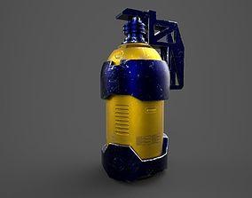 3D model scifi extinguisher lowpoly