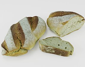 Ultra realistic Bread scan 8k Low-Poly 3D model low-poly