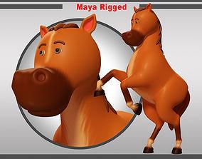 3D asset realtime Horse Rigged V02