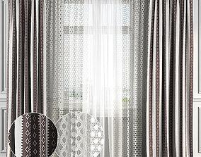 3D Curtain Set 132