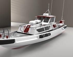 3D model Auminium Patrol Boat