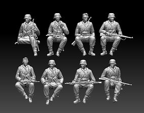 3D printable model world German soldiers