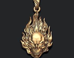Burning skull pendant 3D print model