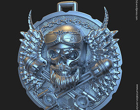 Biker skull vol3 pendant jewelry 3D printable model