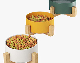Pet elevated feeder 3D model