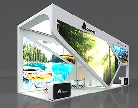 3D Exhibition Booth Stand Stall 12x4m Height 500 cm 3 Side