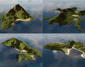 Bundle of islands in Blender 3D model
