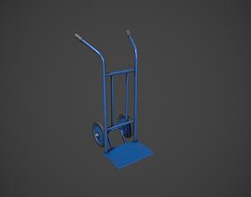 Blue Sack Truck 3D model