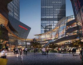 Modern mall interior 3D model