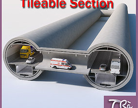 A TYPE TUNNEL SECTION DETAIL 3D model