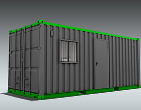 Shipping Container Office or Home 3D