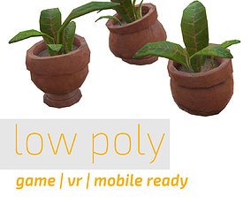 3D model Low Poly Plant Pack
