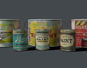 3D asset Cans Paint