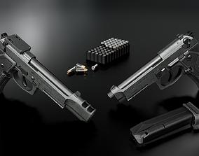 3D model Beretta M9A3 9MM Handgun