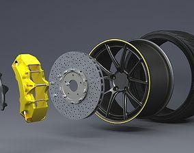 3D disc brake - wheel