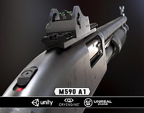Mossberg 590A1 - Model and Textures 3D asset