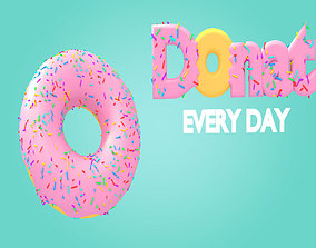 3D asset Sweet Doughnut